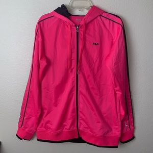 Fila Breast Cancer Track Jacket Full Zip Striped